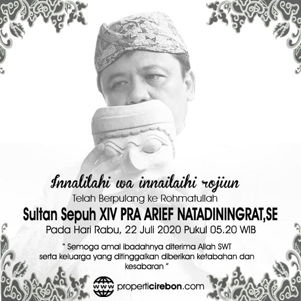 Sultan Sepuh XIV Cirebon PRA Arief Natadiningrat,SE Meninggal Dunia