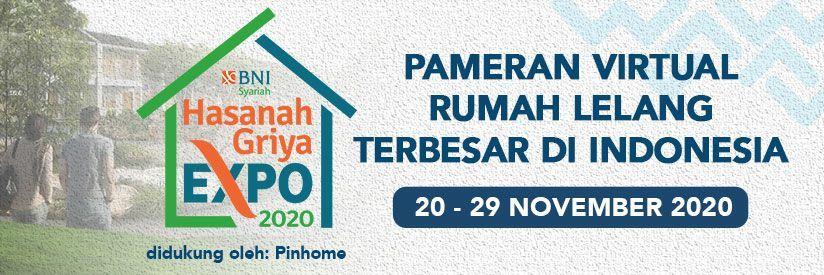 Hasanah Griya Expo 2020: Pameran Virtual Rumah Lelang Terbesar di Indonesia